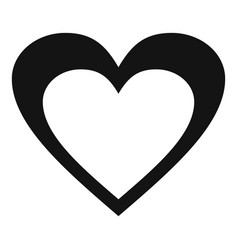 Huge heart icon simple style vector