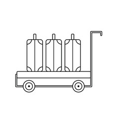 icon of luggage cart vector image