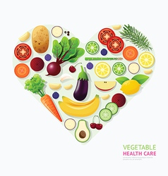 Infographic vegetable and fruit food health care vector image