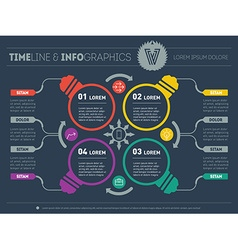 Infographics Business concept with four options vector