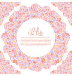 invitation greeting card background vector image