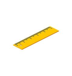 Isometric ruler on white background For web design vector image