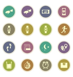 Jogging and workout icons vector
