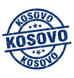 Kosovo blue round grunge stamp vector
