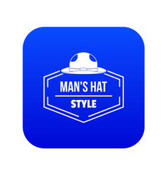 Man hat icon blue vector