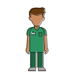 man nurse avatar vector image
