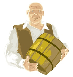 Man with barrel vector