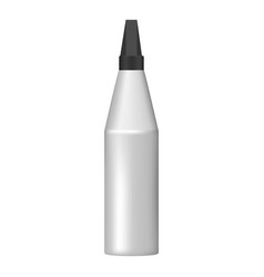 modern glue bottle icon realistic style vector image