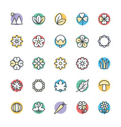 Nature Cool Icons 3 vector