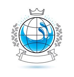 ocean freshness theme logo save water vector image