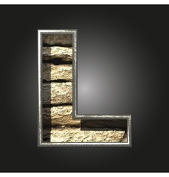 Old stone letter l vector
