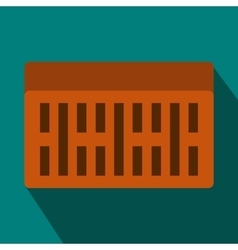 One building brick icon flat style vector image
