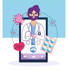 Online health doctor in smartphone support vector