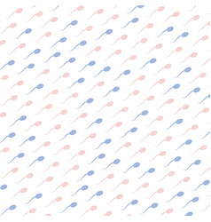 Pink and blue spermatozoids icons on white vector