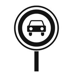 Prohibiting traffic sign icon simple style vector