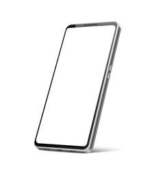 realistic frameless smartphone mock up 3d vector image