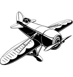 Retro sport plane isolated vector