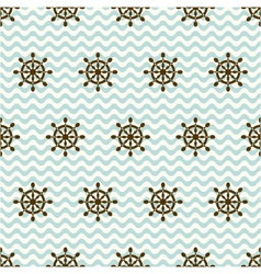 seamless pattern of hand wheels and waves vector image