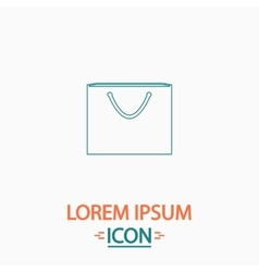 Shopping bag computer symbol vector
