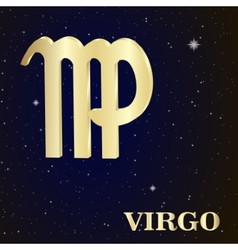 Sign of the zodiac Virgo is the starry sky vector image