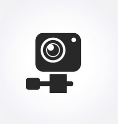 simple gopro style small action sports camera icon vector image