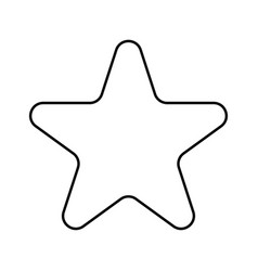 Star black color icon vector