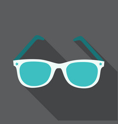 sunglasses icon with long shadow flat design vector image