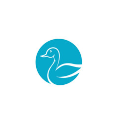 swan icon template vector image