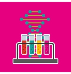 tube test laboratory experiment icon vector image