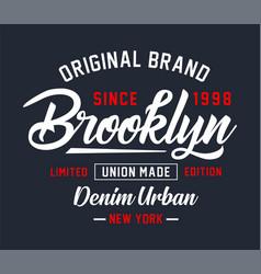 Typography college brooklyn vector