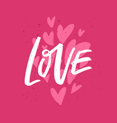 valentines day flat hand drawn phrase vector image
