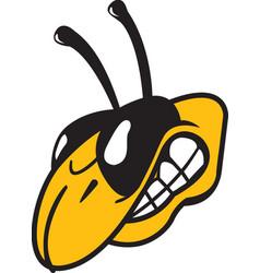 Yellow jacket head logo mascot vector