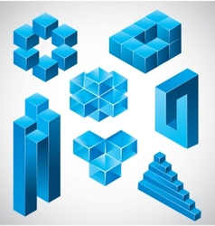 abstract design impossible objects vector image vector image