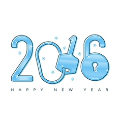 concept 2016 new year lock vector image