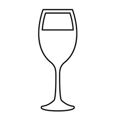 glass of wine black color icon vector image vector image