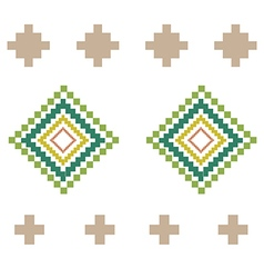 Green yellow rural geometric ornament Elements vector image vector image