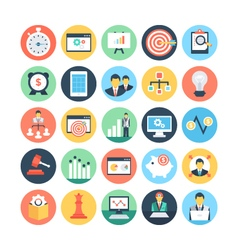 Project Management Colored Icons 3 vector image