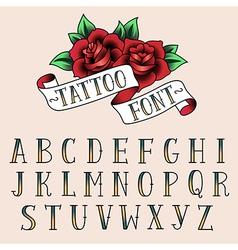 tattoo alphabet vector image vector image