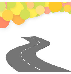 winding road on a white background vector image