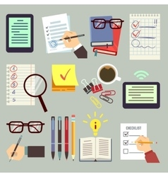 Agenda appointment pointing business list vector image