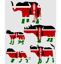 Big Five Kenya vector image vector image