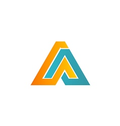 business logo shape technology company vector image vector image