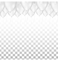 Ceiling Covered in Balloons on transparent vector image vector image