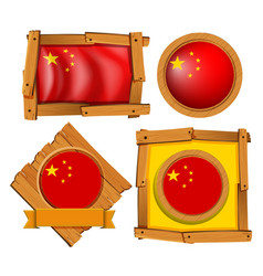 china flag in different frame designs vector image vector image