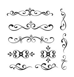 Decorative elements and ornaments vector image