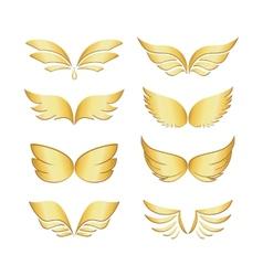 Golden wings vector