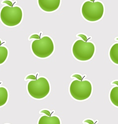 Green apples seamless background vector image vector image