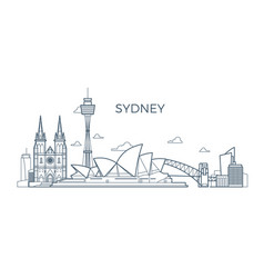 sydney city line skyline with buildings and vector image vector image