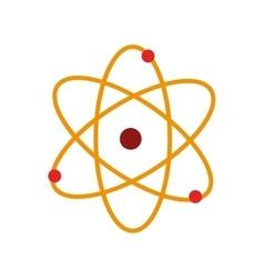 atom chemistry nuclear molecular isolated vector image