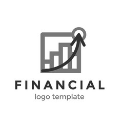 financial logo design template logo with chart vector image